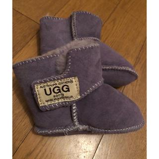 アグ(UGG)のBaby UGG ムートンブーツ ボア アグ パープル (ブーツ)