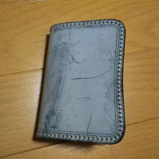 新品 手縫い ブライドルレザー カードケース 小銭いれつきパスケース(折り財布)