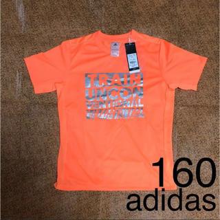 アディダス(adidas)の【160cm】新品 adidas タイポグラフィック Tシャツ(Tシャツ/カットソー)