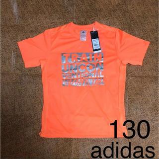 アディダス(adidas)の【130cm】新品 adidas アディダス タイポグラフィック Tシャツ(Tシャツ/カットソー)