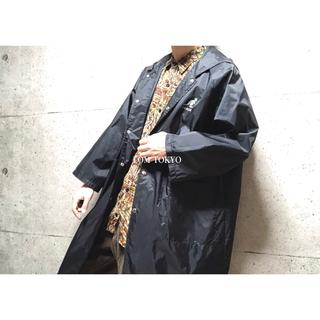 [used]'KANGOL' black nylon long jacket.(ナイロンジャケット)