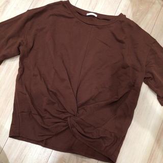 GU - 新品未使用 GU こげ茶Tシャツ