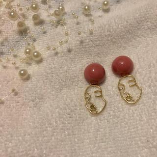 ザラ(ZARA)のイヤリング ハンドメイド フェイスチャームイヤリング パーツ 韓国ファッション(イヤリング)
