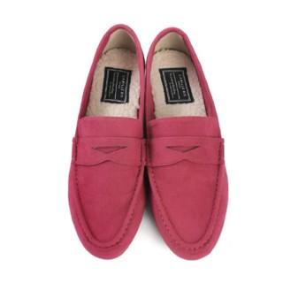 ランダ(RANDA)の期間限定お値下げ中!RANDA 2WAYスエードローファー ピンク Mサイズ(ローファー/革靴)