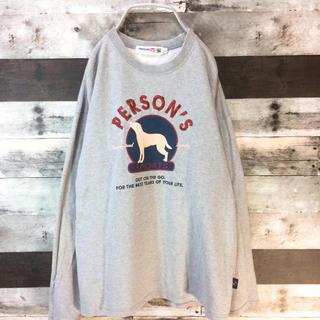 パーソンズ(PERSON'S)のPERSON'S SPORTS スウェット セーター グレー ドックプリント(スウェット)