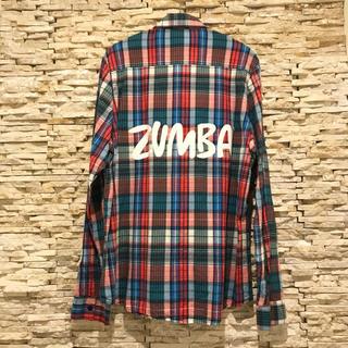 ZUMBA フランネルシャツ Sサイズ【USED】