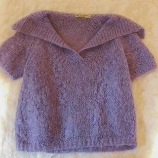 vintage sailor color mohair knit