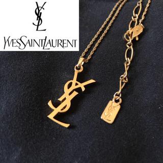 サンローラン(Saint Laurent)の稀少 イブサンローラン ネックレス YSL ロゴ ヴィンテージ 美品(ネックレス)