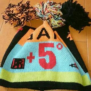 ヴィヴィアンウエストウッド(Vivienne Westwood)の送料無料(日本製)ヴィヴィアンヴウエストヴッドのボンボンニット帽(ニット帽/ビーニー)