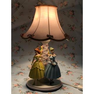 ディズニー(Disney)の( 美品・レア )ディズニー プリンセス  ナイト・テーブルランプ  高さ41㎝(テーブルスタンド)