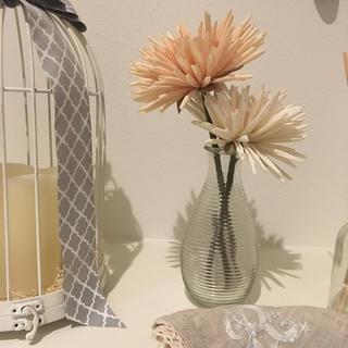 アクタス(ACTUS)の【新品・未使用‼️】ACTUS(アクタス) 花瓶とお花(2本)のセット(花瓶)
