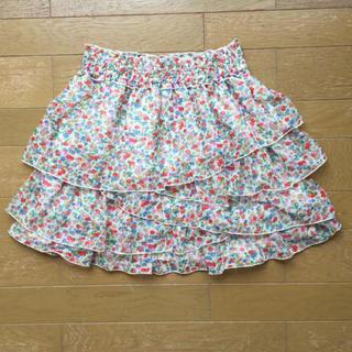 シマムラ(しまむら)のミニスカート  オーバースカート  花柄(ミニスカート)