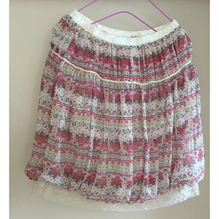 シマムラ(しまむら)のペイズリー柄  バルーンミニスカート オーバースカート(ミニスカート)