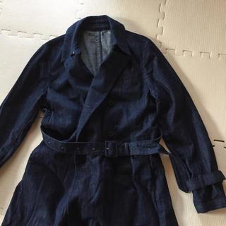 ムジルシリョウヒン(MUJI (無印良品))の無印 デニム ロングコート ベルト付き(ロングコート)