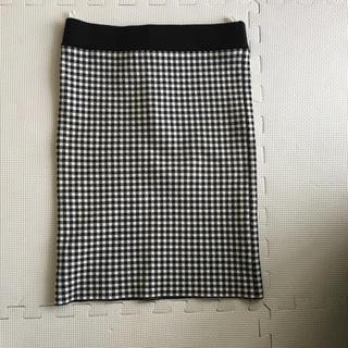 ミラオーウェン(Mila Owen)の美品!ミラオーウェン チェックタイトスカート(ひざ丈スカート)