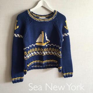 シーニューヨーク(Sea New York)の⭐︎ Sea New York/定価¥63720 コットンローゲージニット(ニット/セーター)
