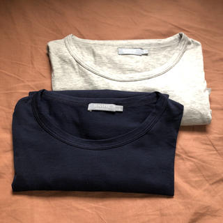 サンスペル(SUNSPEL)のSUNSPELサンスペルメンズロングTシャツSサイズネイビーグレー2点(Tシャツ/カットソー(七分/長袖))