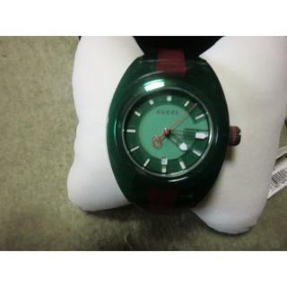 グッチ(Gucci)のGucci SYNC ラバーベルト グリーン&レッド(腕時計(アナログ))