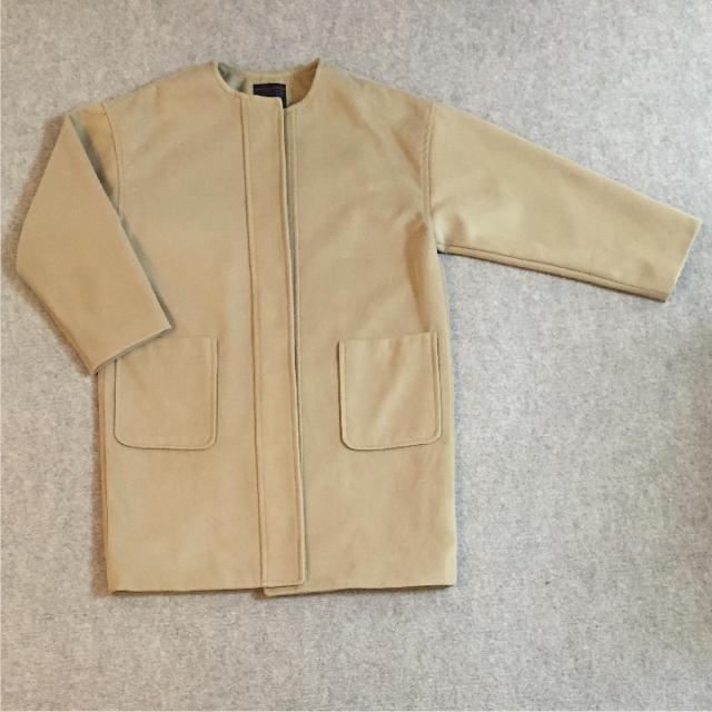 しまむら(シマムラ)のしまむら☆ノーカラーコート レディースのジャケット/アウター(ロングコート)の商品写真