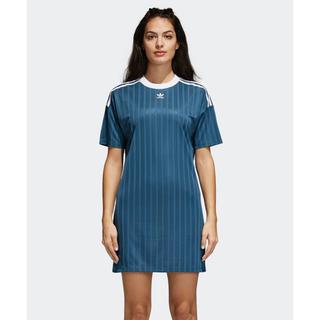 アディダス(adidas)のadidas originals トレフォイルドレス ワンピース ブルー 系(ミニワンピース)