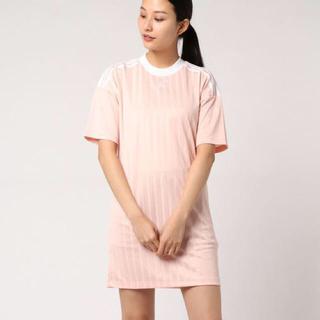 アディダス(adidas)のadidas originals トレフォイルドレス ワンピース ライトピンク(ミニワンピース)