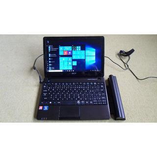 エイサー(Acer)のACER ASPIRE メモリー4GB 大容量新品予備バッテリー付(ノートPC)