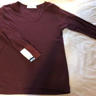 トーガ(TOGA)のTOGA PULLA 15AW リブ付き カットソー 長袖Tシャツ パープル(Tシャツ(長袖/七分))