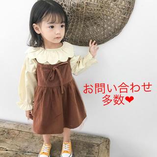 ベビー、子供服❤︎73-110cm❤︎ブラウス&ワンピース2点set(ワンピース)