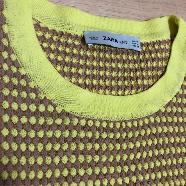 ZARA(ザラ)のzara新品未使用半袖ニット レディースのトップス(カットソー(半袖/袖なし))の商品写真
