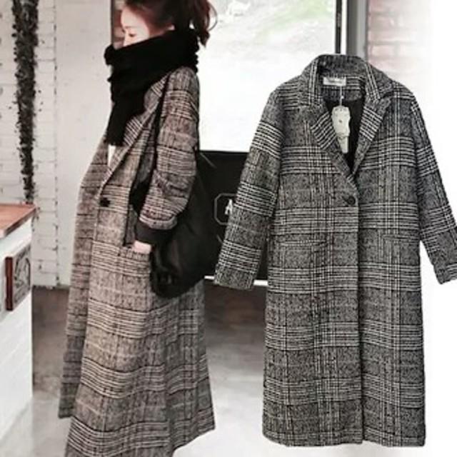 ZARA(ザラ)のチェック コート レディースのジャケット/アウター(ロングコート)の商品写真
