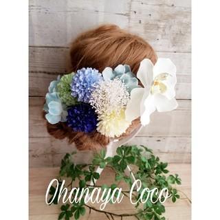 苺さま専用 胡蝶蘭とかすみ草の髪飾り10点Set オーダー(その他)