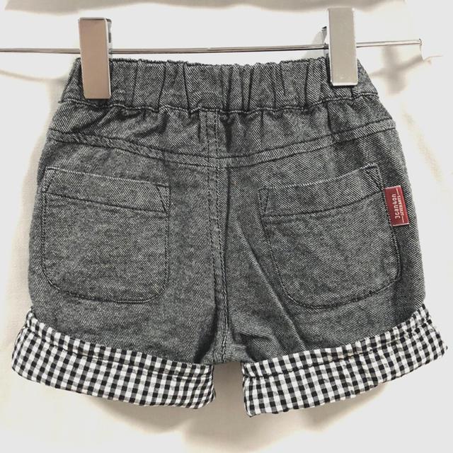しまむら(シマムラ)のハーフパンツ 折り返し ギンガムチェック しまむら 80 男の子 キッズ ベビー キッズ/ベビー/マタニティのベビー服(~85cm)(パンツ)の商品写真