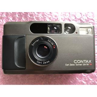 キョウセラ(京セラ)の1年保証 contax t2 コンタックスT2のチタンブラック(フィルムカメラ)