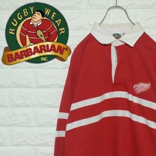バーバリアン(Barbarian)の【カナダ製】古着  バーバリアン  ラガーシャツ  Lサイズ(ポロシャツ)