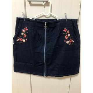 アベイル(Avail)の大きいサイズ Avail 刺繍入りスカート 4L(ミニスカート)