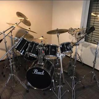 パール(pearl)の【大特価】ドラムセット(フルスペック)➕バック(スティックなど)(セット)