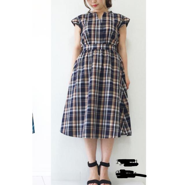GU(ジーユー)のGUマドラスチェックブラウス+スカートセットアップ新品 レディースのレディース その他(セット/コーデ)の商品写真