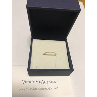 ヴァンドームアオヤマ(Vendome Aoyama)のヴァンドーム青山 エタニティリングK10ダイアモンドリング(リング(指輪))