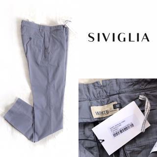 シビリア(SIVIGLIA)の【新品】SIVIGLIA シヴィリア WHITE テーパードパンツ グレー 30(チノパン)