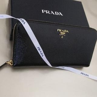 プラダ(PRADA)の【美品】PRADAプラダラウンドファスナー長財布(財布)