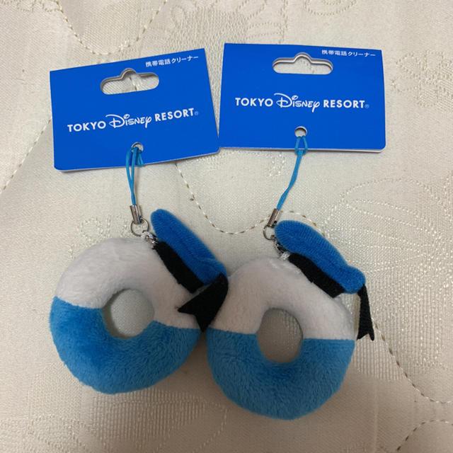 Disney(ディズニー)の携帯用クリーナー スマホ/家電/カメラのスマホアクセサリー(ストラップ/イヤホンジャック)の商品写真