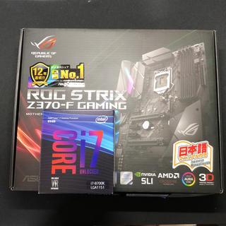 エイスース(ASUS)のCORE I7 8700k Asus ROG z370-f マザー セット(PCパーツ)