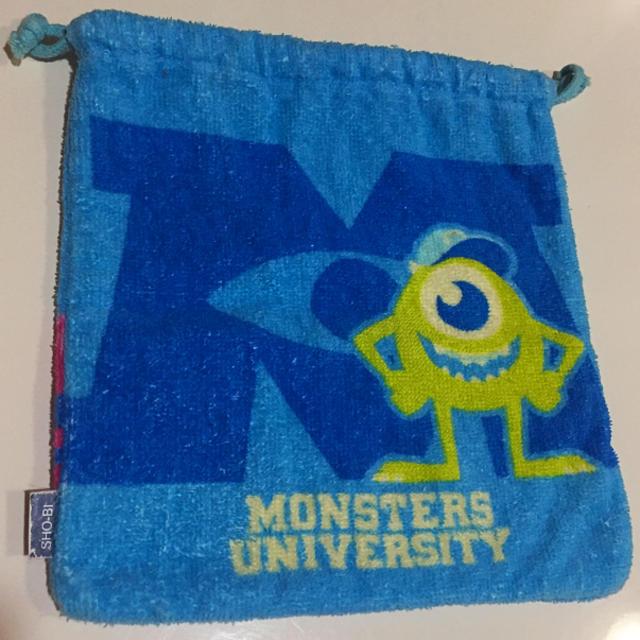 Disney(ディズニー)のモンスターズユニバーシティ タオル巾着袋 エンタメ/ホビーのおもちゃ/ぬいぐるみ(キャラクターグッズ)の商品写真