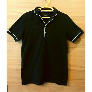 ザラ(ZARA)のZARA ポロシャツ 黒ポロシャツ(ポロシャツ)