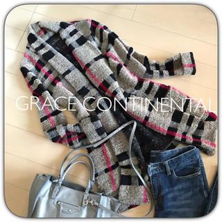 グレースコンチネンタル(GRACE CONTINENTAL)のグレースコンチネンタル コーディガン  ニットコート(ニットコート)