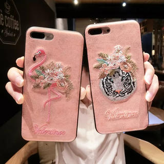 iPhone7.iPhone8♡ピンクフラミンゴ(iPhoneケース)