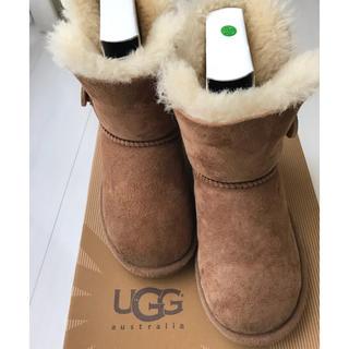 アグ(UGG)のugg キッズ ムートン ブーツ チェスナット 18.5cm US12 美品(ブーツ)