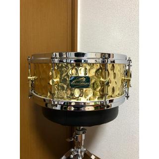 【美品】canopus hb-1455 hammered brass カノウプス(スネア)
