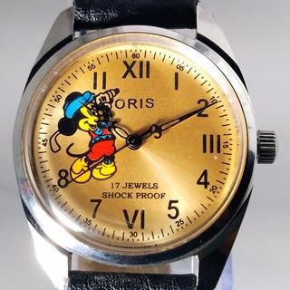 オリス(ORIS)のデザイン針のミッキー &オリス 手巻き腕時計(腕時計(アナログ))