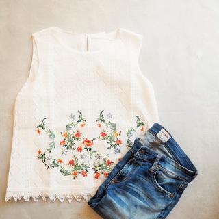 アリエス(aries)のaries mirage  Flower Embloidary Blouse(シャツ/ブラウス(半袖/袖なし))